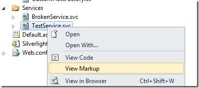 viewservicemarkup