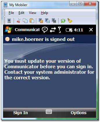 how to connect office communicator from mobile