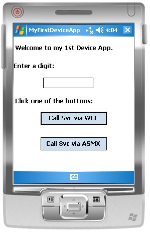 My form in the Pocket PC emulator