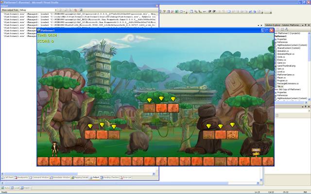 Рис. 4 Готовая игра в жанре платформер.