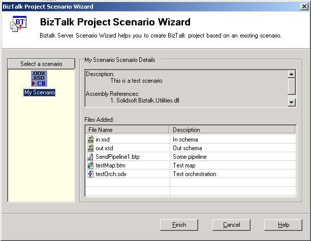 BizTalk Scenario wizard