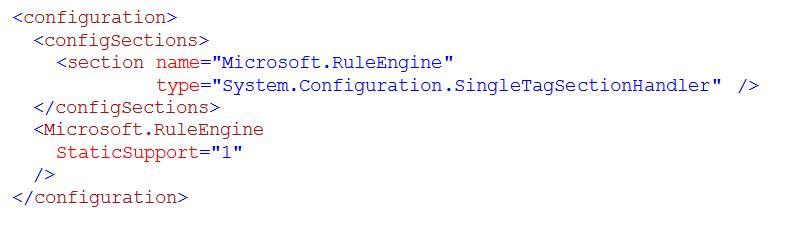 StaticSupport configuration