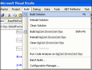 Visual Studio - Build Solution