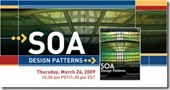 Don't miss this opportunity to hear Thomas Erl, author of the newly published SOA Design Patterns, a catalog of 85 design patterns for service-oriented architecture and service-orientation.