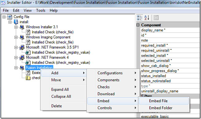configuring dotnetinstaller 2 0 to install custom prerequisites andDotNetInstaller.exe #17