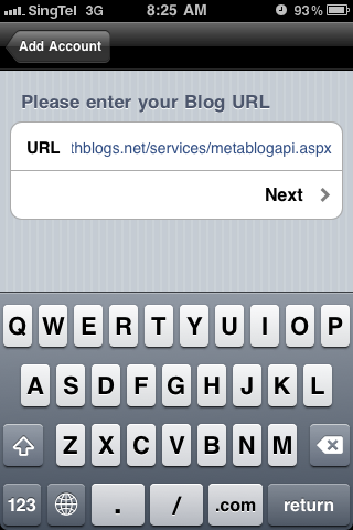 Blog URL - This is GeeksWithBlogs MetaBlogAPI URL