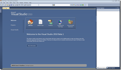VS2010_welcome_screen