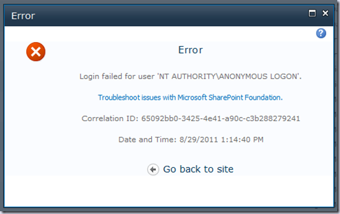 Login failed for user 'NT AUTHORITY\ANONYMOUS LOGON' during PowerPivot Service application creation