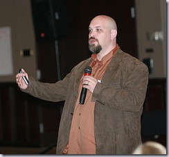 Josh Holmes presenting the keynote