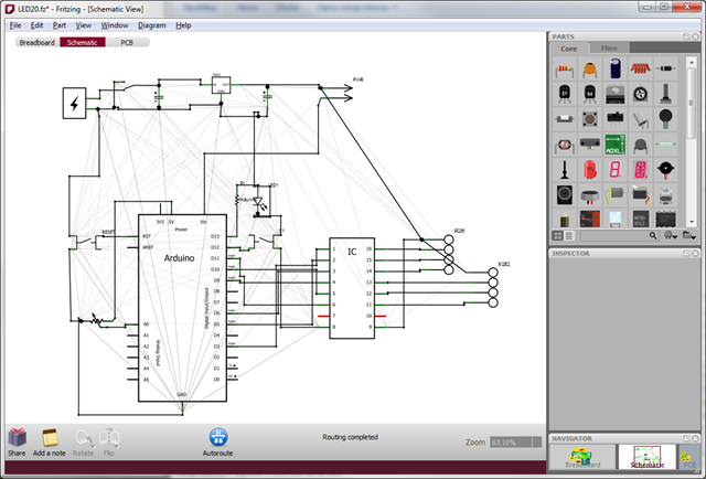 Fritzing - schematic view