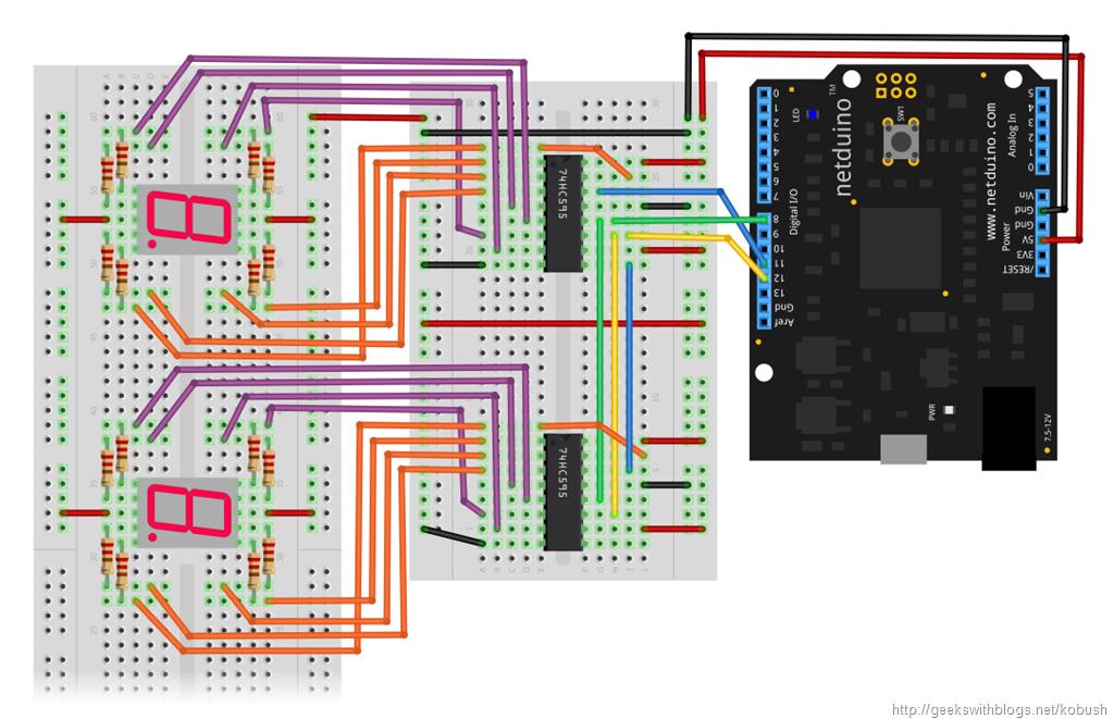 Decimal Counter Circuit Diagram using 4017 Decade Counter