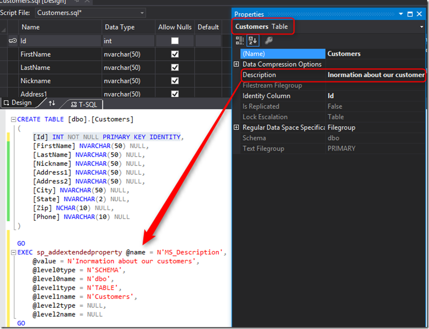 Documenting your database with visual studio 2012 ssdt tools image ccuart Images