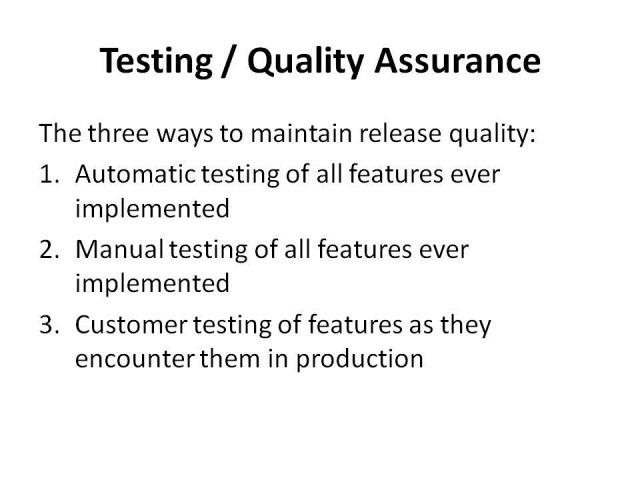 test and behaviour driven development