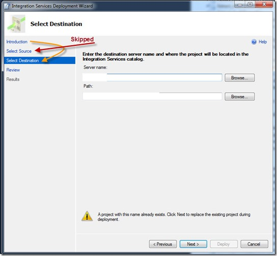 Deploying SSIS to Integration Services Catalog (SSISDB) via SQL Server Data Tools screenshot 2