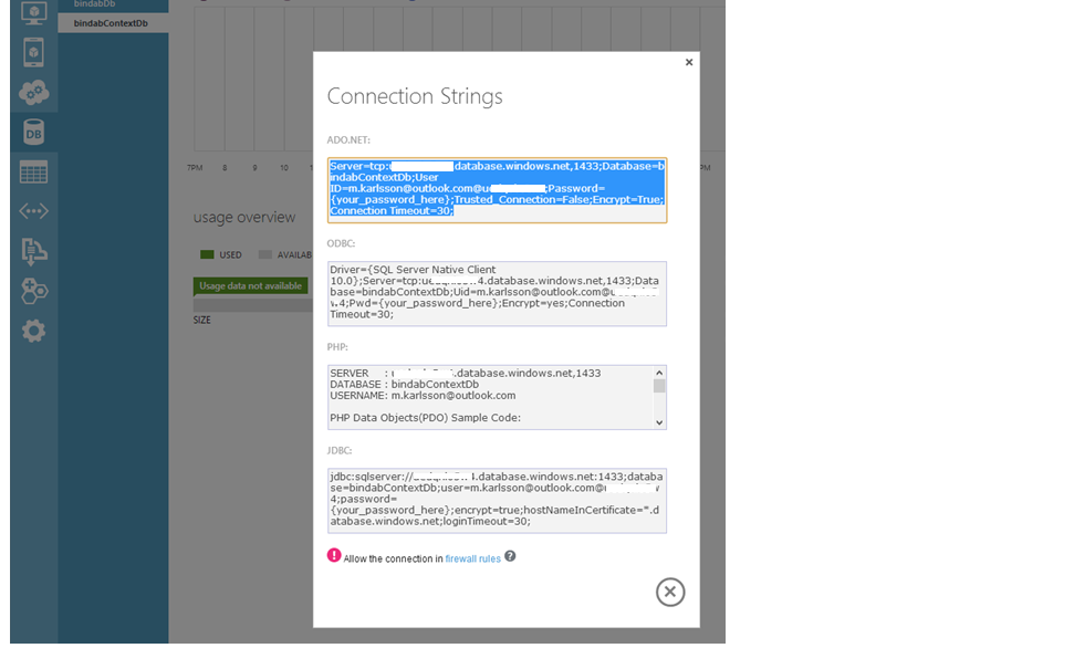Add SQL Azure database to Azure Web Role and persist data ...