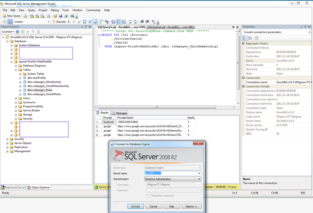 It can be installed using the GUI. How to connect to LocalDB using SQL  Server Management Studio ...
