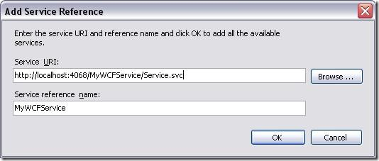 Add Service Reference Dialog