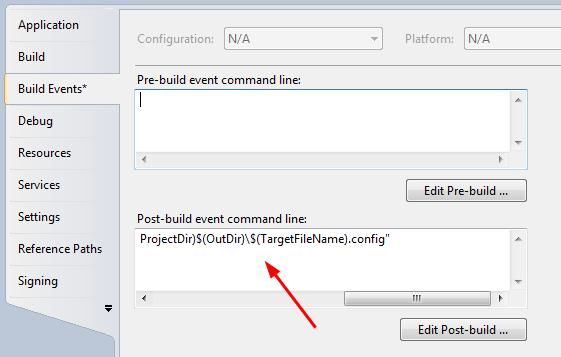 Vs  Build Specific App Config