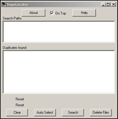 Dupelocater interface