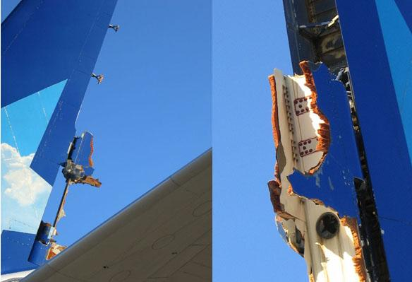 Air Transat A310 Rudder