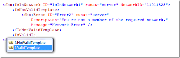 The fb:is-in-network source code.