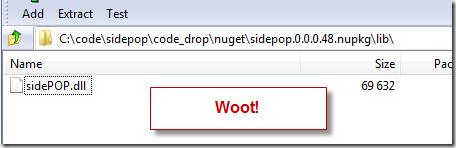 sidepop.dll minus log4net.dll