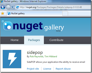 SidePOP on NuGet gallery!