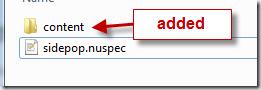adding a content folder