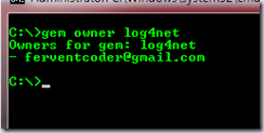 Gem owners for log4net
