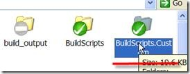Creating the BuildScripts custom directory