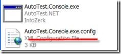 Showing AutoTest.Console.exe.config