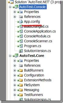 Solution Explorer in Visual Studio outlining App.config