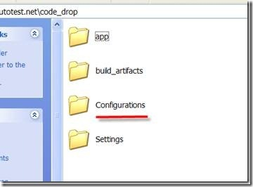 A Configurations folder is built