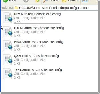 Configurations folder with all of the configurations that have been built by UppercuT