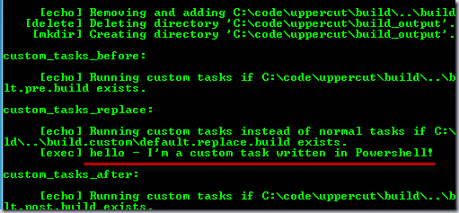 I'm a custom task written in PowerShell!
