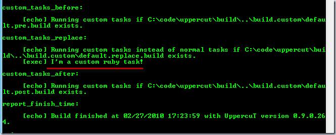 I'm a custom ruby task!