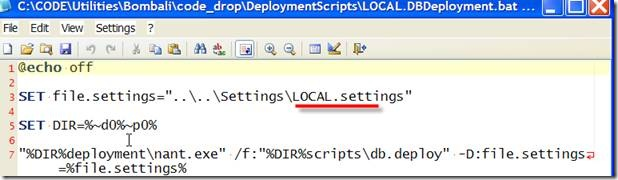Deployment File after building with the environment variable replaced with LOCAL