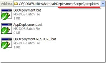 A folder with the deployment batch file templates.