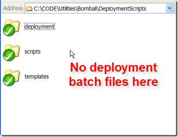 A deployment scripts folder with no deployment scripts