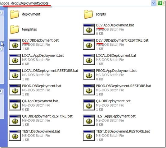 A folder full of deployment scripts