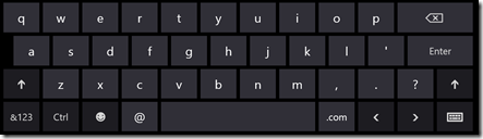 "Windows 8 ""email"" keyboard"