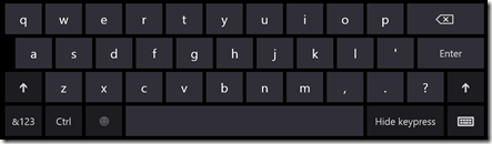 "Windows 8 ""password"" keyboard"