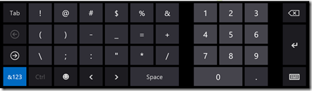 "Windows 8 ""numeric"" keyboard"