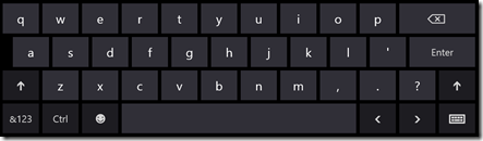 Windows 8 standard keyboard