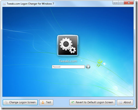 Tweaks Logon Changer for Windows 7