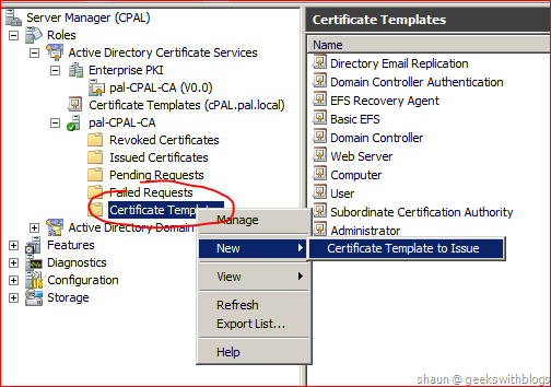 Working with active directory certificate service via c now the template is ready for use then we will change our code to send request to enterprise ca with template specified yelopaper