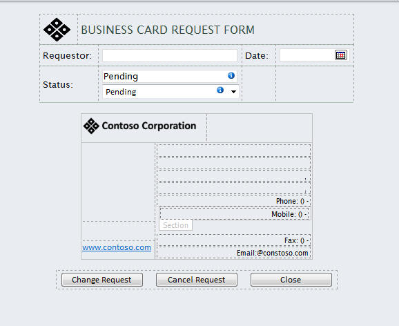 Creating the business card request infopath form image colourmoves
