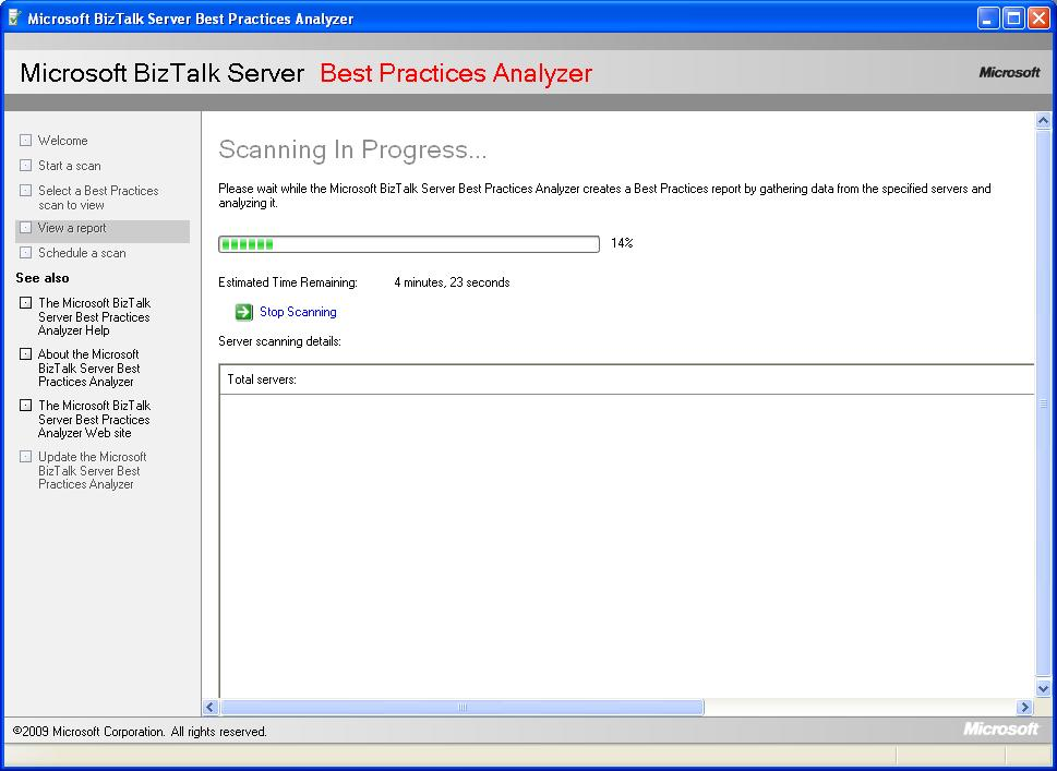 BizTalk Server Best Practice Analyser Scanning