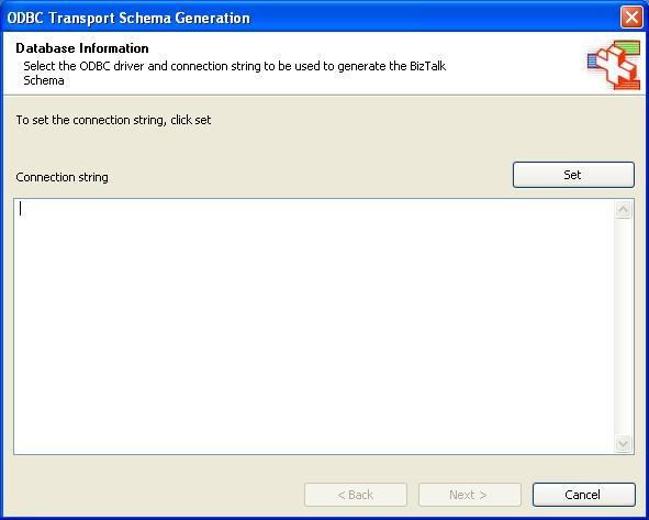 BizTalk 2009 ODBC Adapter Schema Generation - Set Connection String