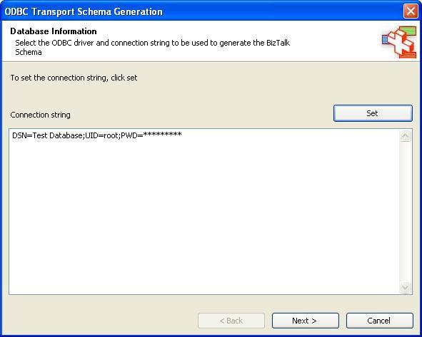 BizTalk 2009 ODBC Adpater Schema Generation - Updated ODBC Transport
